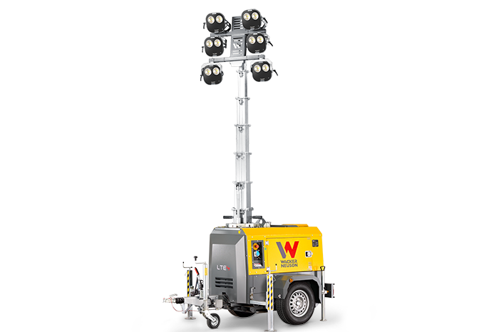 Light Tower: mobile, independent, powerful illuminator for your construction site.