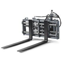 Pallet fork - hydraulically adjustable